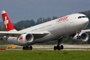 Самолет авиакомпании Swiss Air Lines