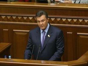 Президент Украины Виктор Янукович в Верховной Раде