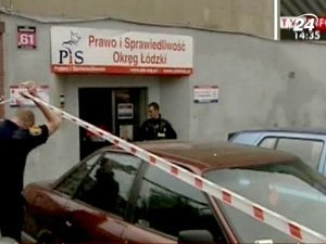 Вооруженный преступник напал на офис партии Качиньского