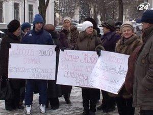 В Тернополе медики вышли с протестом