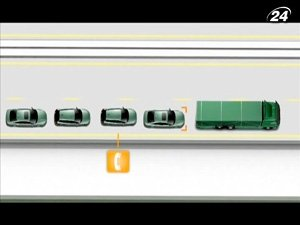 SaRTrE предусматривает автоматическое движение автомобилей в колонне