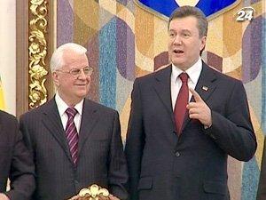 Президент Украины Виктор Янукович и Президент Украины, 1991-1994 гг Леонид Кравчук