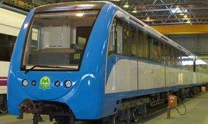 Головной вагон метро производства Кременчугского вагоностроительного завода