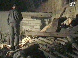 В результате взрыва здание полностью разрушено