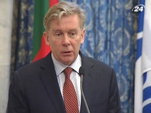 Председатель ОБСЕ, министр иностранных дел Литвы Аудронюс Ажубалис