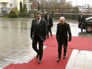 Президент Украины Виктор Янукович и Президент Израиля Шимон Перес