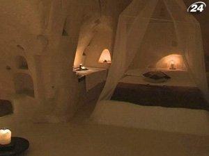 Отель в пещерах