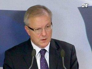 Комиссар ЕС по экономической и валютной политики Олли Рен