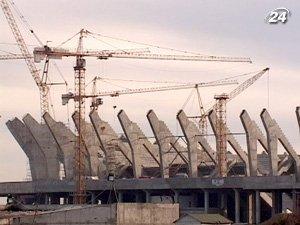 Строительство евроарены во Львове продолжается