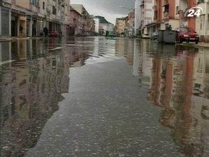 Высокая вода в городе Шкодер