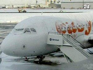 За сильных снегопадов отменяют рейсы