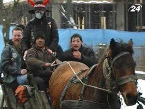 Парад байкеров в Ужгороде