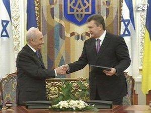 Президент Израиля Шимон Перес с визитом в Украину