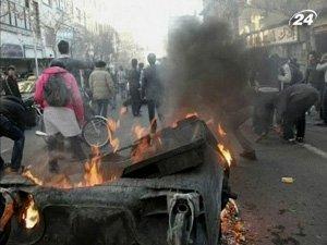 Акции неповиновения в Тегеране