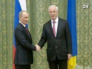Премьер-министр Украины Николай Азаров и премьер-министр России Владимир Путин