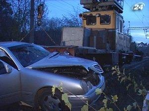 Авария на железнодорожном переезде возле Львова