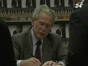 Автограф-сессия Буша в Техасе