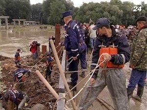Работы по ликвидации последствий наводнений