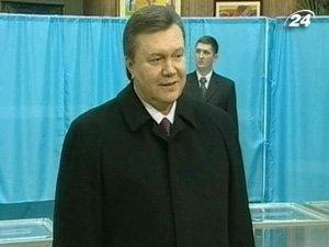 Виктор Янукович на выборах президента