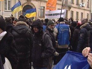 Пикетирование Администрации Президента состоялось мирно