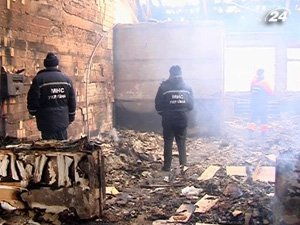 Пожар в санатории в Хмельнике
