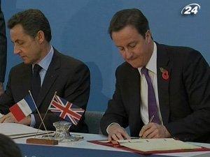 Президент Франции Николя Саркози и премьер-министр Великобритании Дэвид Кэмерон