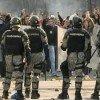 Столкновения между демонстрантами и полицией