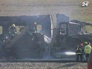 В Израиле загорелся пассажирский поезд