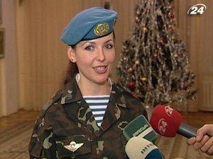 Победительница всеармейское конкурса красоты Виктория Савчин