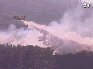 Пожарная авиация помогает бороться с пламенем