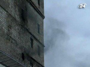 Пожар на пивоварне в Донецке