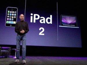 Стив Джобс с новым iPad 2
