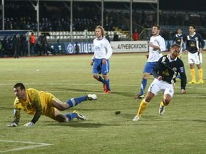 Голайдо мгновение назад забил третий мяч в ворота Лаштувки