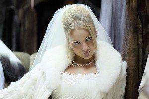 Невеста с накидкой