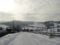 Карпатское село зимой