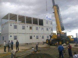Возведение модульного здания
