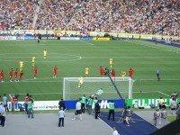 Сборная Украины по футболу на поле