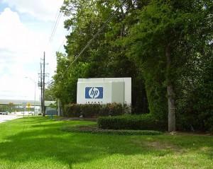На подъезде к головному офису компании Hewlett-Packard в США