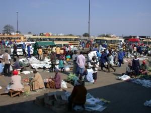 Рынок в Зимбабве