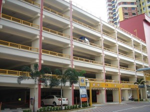 Многоуровневая парковка в Сингапуре