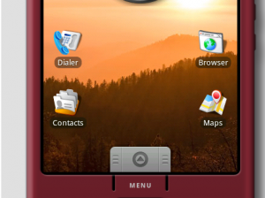 Рабочий стол ОС Android 1.5 в эмуляторе