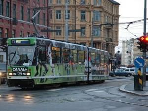 Трамвай на улицах Осло