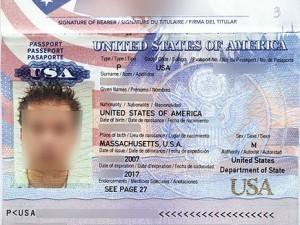 Биометрический паспорт гражданина США