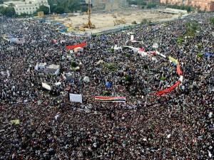Митинг на площади Тахрир в Каире, Египет