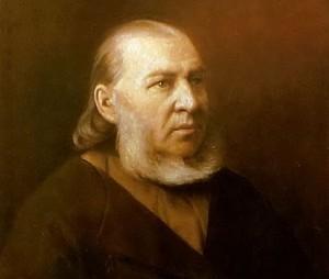 Портрет писателя Сергея Тимофеевича Аксакова