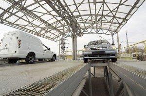 Осмотр автомобилей ZAZ-Sens на заводе «УкрАВТО»