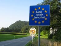 Граница между Германией и Австрией в рамках Шенгенской зоны
