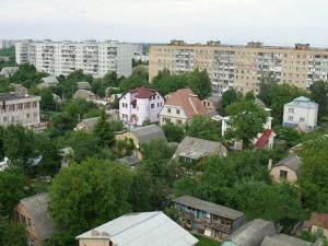 Жилой массив в Боярке (пригород Киева)