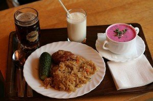 Обед в Латвии