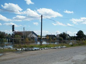 Река Тунгуска затопила село Николаевка
